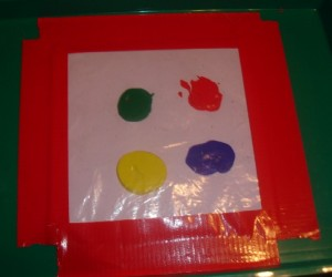 zip lock finger painting