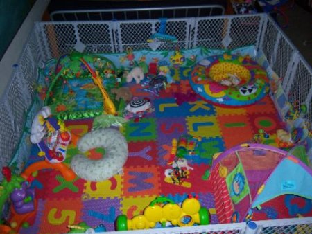 foam mats in baby fence